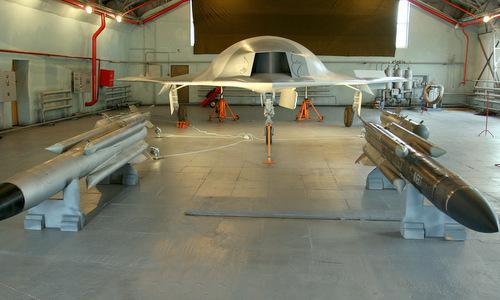Một nguyên mẫu UAV chiến đấu do hãng MiG của Ngaphát triển. Ảnh: Sputnik.