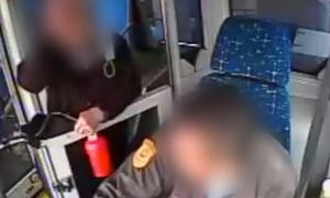 Cụ bà Trung Quốc bẻ lái xe buýt, đánh mắng tài xế