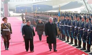 Lễ đón rực rỡ cờ hoa Triều Tiên dành cho Chủ tịch Cuba