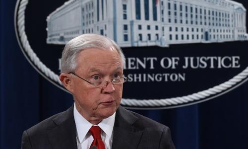 Jeff Sessions tại Washington ngày 28/10. Ảnh: AFP.