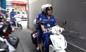 Đội cấp cứu bằng xe máy lần đầu hoạt động tại TP HCM