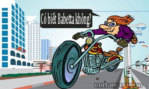 Phanh xe Babetta nằm ở đâu  ?