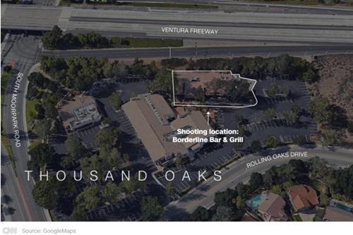Quán bar nơi xảy ra vụ xả súng. Ảnh: Google Maps.