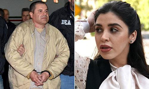 Trùm ma túy Joaquin El Chapo Guzman (trái) và vợ Emma Coronel Aispuro. Ảnh: AP.