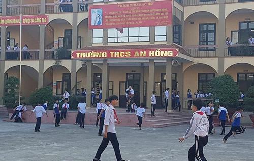 Trường THCS An Hồng ở An Dương, Hải Phòng. Ảnh: Lao động