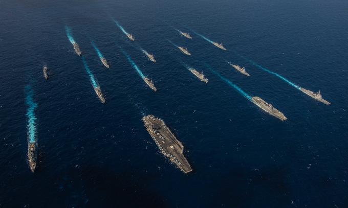 Màn phô diễn sức mạnh ngay sát nách Trung Quốc của hải quân Mỹ, Nhật