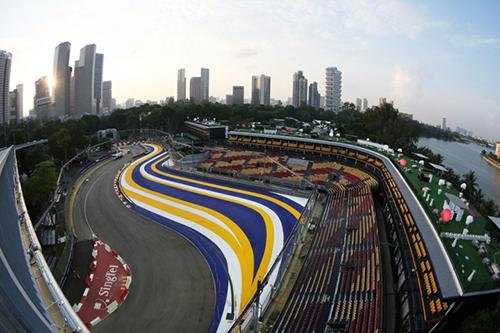 Một góc khán đài của trường đua F1 Vịnh Marina, Singapore. Ảnh: Singapore GrandPix