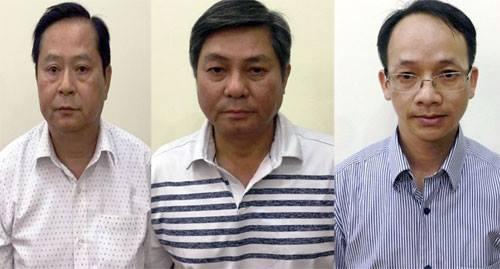 Từ trái qua lần lượt là ông Nguyễn Hữu Tín, ông Đào Anh Kiệt và ông Nguyễn Thanh Chương.