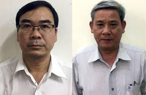 Bị can Trương Văn Út và Lê Văn Thanh.