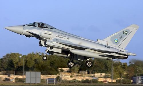 Tiêm kích Eurofighter Typhoon của lực lượng không quân Arab Saudi. Ảnh: Creative Commons.