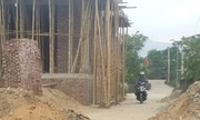 Bí thư xã ở Hà Tĩnh xây nhà lấn 11m2 không gian đường