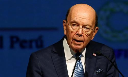 Bộ trưởng Thương mại Mỹ Wilbur Ross phát biểu tại Lima, Peru hôm 12/4. Ảnh: Reuters.