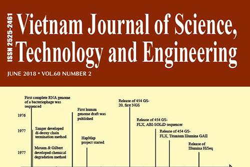 Trang bìa của tạp chí VJSTE.