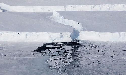 Tảng băng trôi B-46 ước tính rộng 225 km². Ảnh: NASA.