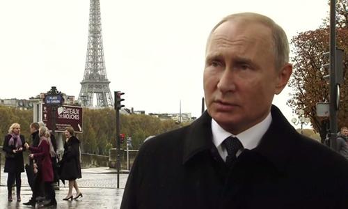 Tổng thống Nga Vladimir Putin tại Paris, Pháp ngày 11/11. Ảnh: RT.