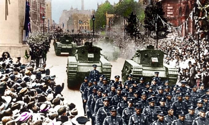 Những hình ảnh ấn tượng về cuộc thế chiến đầu tiên của nhân loại