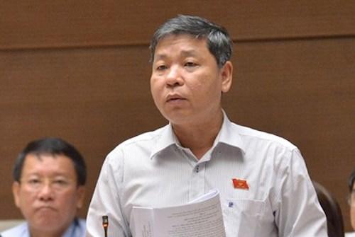 Đại biểu Nguyễn Hoàng Mai ở Quốc hội. Ảnh: Trung tâm thông tin Quốc hội