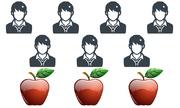 Nghìn người không chia đều 3 quả táo cho 7 người, còn bạn?