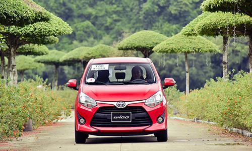 Toyota Wigo chụp tại Ninh Bình trong chương trình chạy thử.