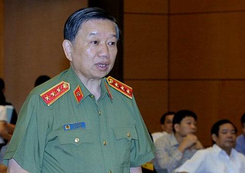 Bộ trưởng Công an Tô Lâm tại Quốc hội. Ảnh: Trung tâm thông tin QH