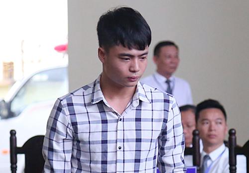 Lê Văn Huy tại tòa chiều 13/1. Ảnh: Phạm Dự.