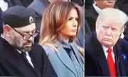 Video Trump nhìn về phía Vua Morocco ngủ gật gây sốt