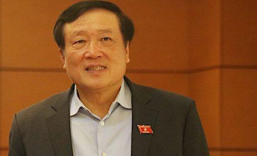 Chánh án Toà án nhân dân tối cao Nguyễn Hoà Bình ở Quốc hội. Ảnh: Võ Hải