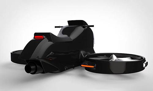 Bản concept môtô bay Gyrodrone. Ảnh: Design Boom.