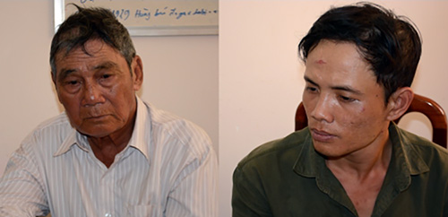 Duc and Minh are in the investigative agency. Photo: Provided by the police