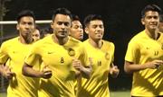Đội tuyển Malaysia tập trên sân Mỹ Đình, quyết giành 3 điểm trước Việt Nam