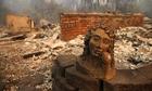 Quang cảnh như vùng chiến sự nơi cháy rừng quét qua ở Mỹ