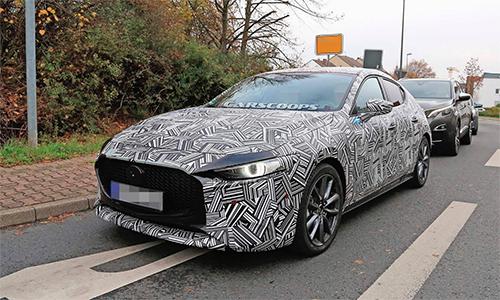 Mazda3 thế hệ mới trên đường thử.