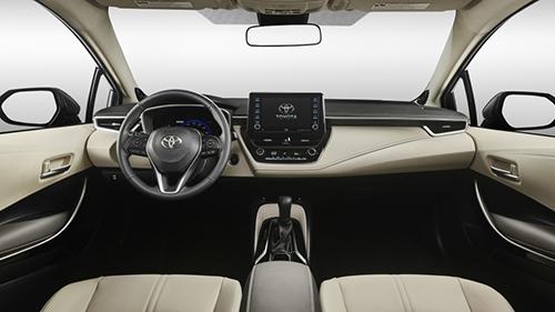Không gian cabin của Corolla 2020 thiết kế lại.