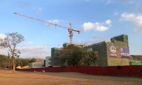 Một dự án xây dựng của Trung Quốc tại Port Moresby, Papua New Guinea ngày 14/11. Ảnh: Reuters.