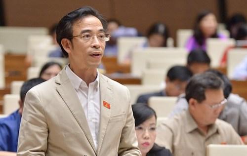 Đại biểu Nguyễn Quang Tuấn tại Quốc hội. Ảnh: Trung tâm báo chí QH