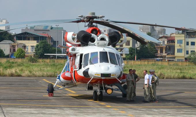 Trực thăng Nga trình diễn trên bầu trời Hà Nội