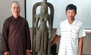 Trưng bày tượng nữ thần Saraswati đầu tiên được tìm thấy ở Việt Nam