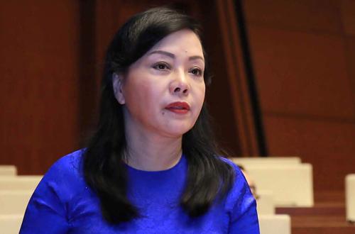 Bộ trưởng Nguyễn Thị Kim Tiến tại Quốc hội. Ảnh: Hoàng Phong