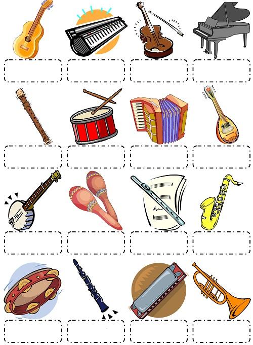 Đoán từ vựng tiếng Anh về nhạc cụ