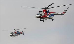 Trực thăng triệu đô Nga phô diễn kỹ thuật bay trên bầu trời Hà Nội