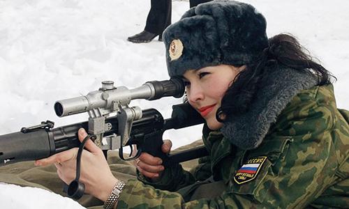 Nữ quân nhân Nga tham gia cuộc thi sắc đẹp do quân đội tổ chức