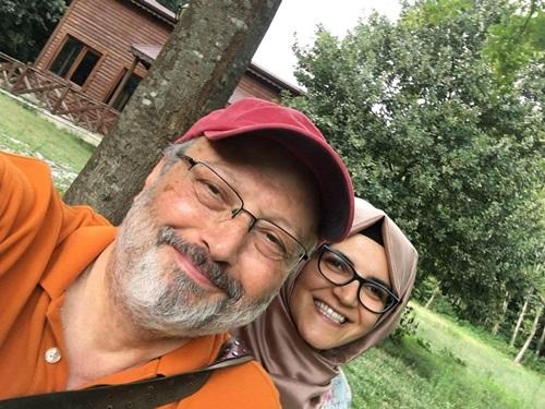 Khashoggi và vị hôn thê người Thổ Nhĩ Kỳ Hatice Cengiz. Ảnh: Washington Post.