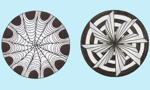 Vẽ 3D sáng tạo từ hình tròn