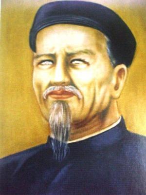 Tranh vẽ Nguyễn Đình Chiểu.