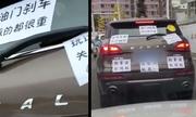 Anh chồng dán cảnh báo vợ 'mới lấy bằng lái' ở Trung Quốc