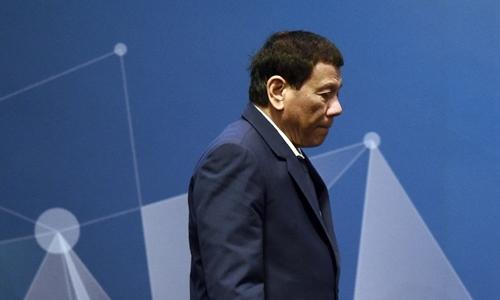 Tổng thống Philippines Rodrigo Dutertetại hội nghị ở Singapore ngày 15/11. Ảnh: AFP.