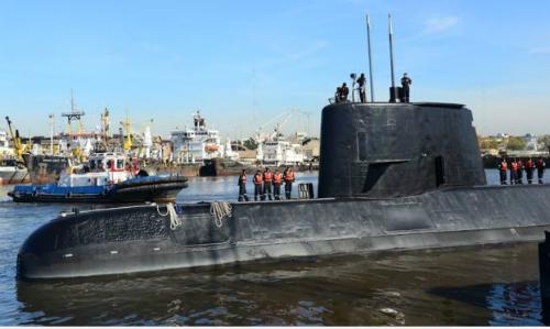 Tàu ngầmARA San Juan tạiBuenos Aires năm 2014. Ảnh:AFP.
