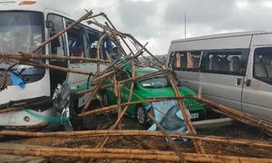 Lốc xoáy tại Gành đá đĩa Phú Yên khiến 23 người bị thương