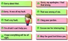 Những cách nói thay thế 'Sorry'
