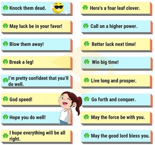 Những cách nói thay thế good luck